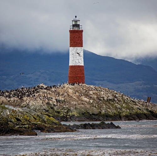 Faro Les Éclaireurs, en el Canal de Beagle